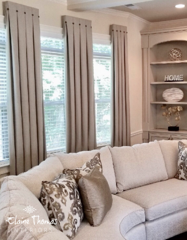 Atlanta Custom Window Treatments | Elaine Thomas Interiors